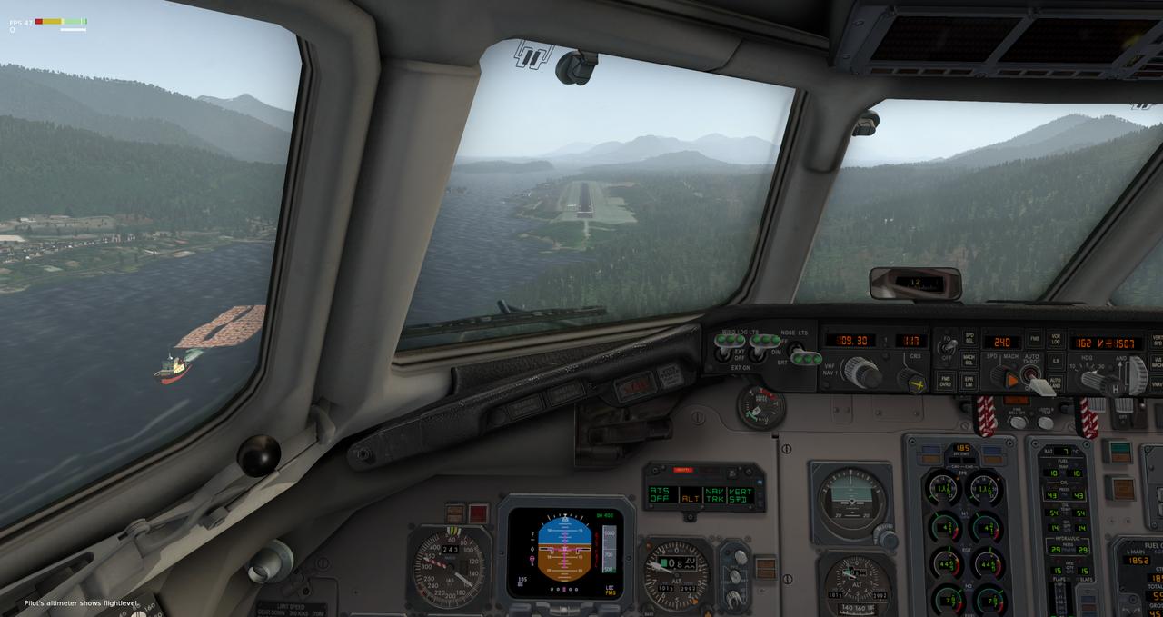 Mit der Default MD-82 von Anchorage nach Ketchikan 33962400ga