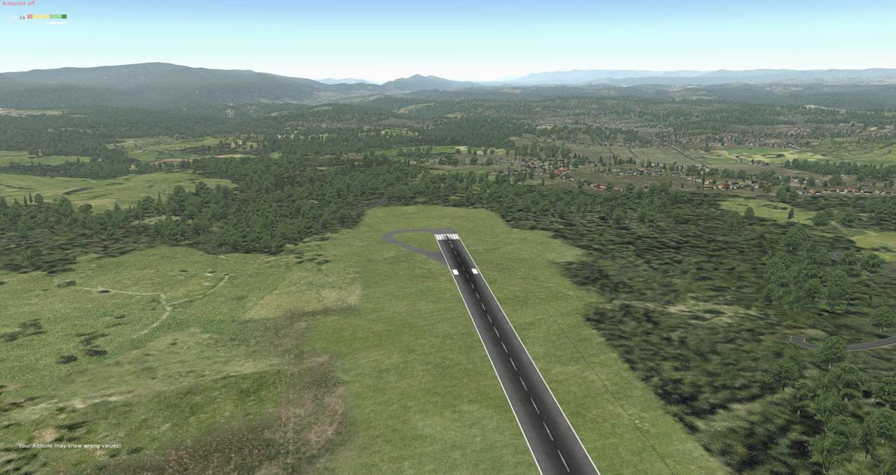 Die Standardlandschaft im Xplane 33983088qw