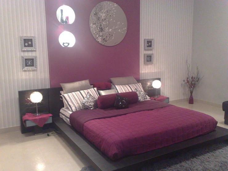 غرف نوم بدرجات البنفسجى 13638793962