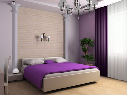 غرف نوم بدرجات البنفسجى 13638793963