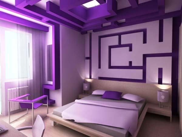 غرف نوم بدرجات البنفسجى 13638797952