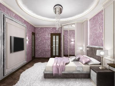 غرف نوم بدرجات البنفسجى 13638797954