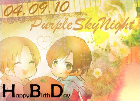 [HBD] สุขสันต์วันเกิด WM-Ad PurpleSkynight ! Hbdpo2
