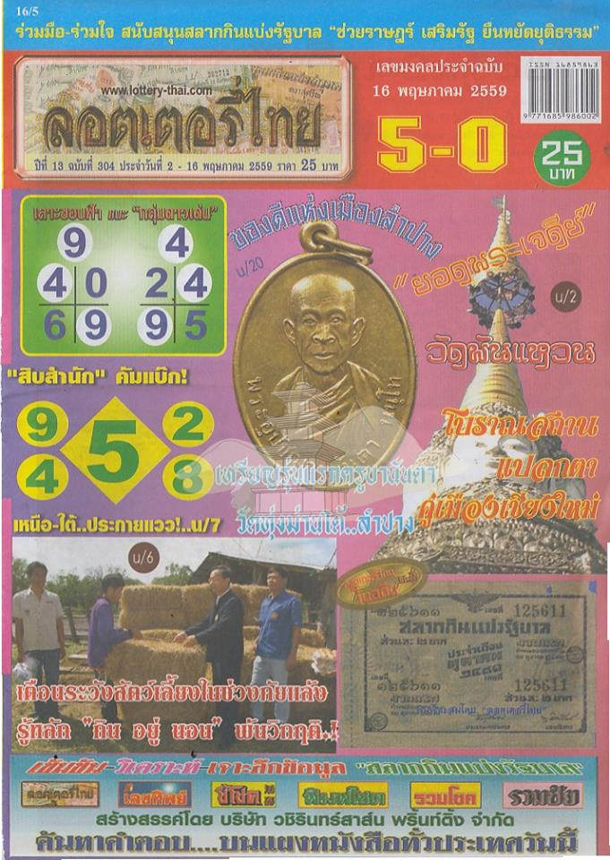 16/5/2016 Thai Lottery Tips - Page 4 13151658_1035075833207945_7670917737232040212_n