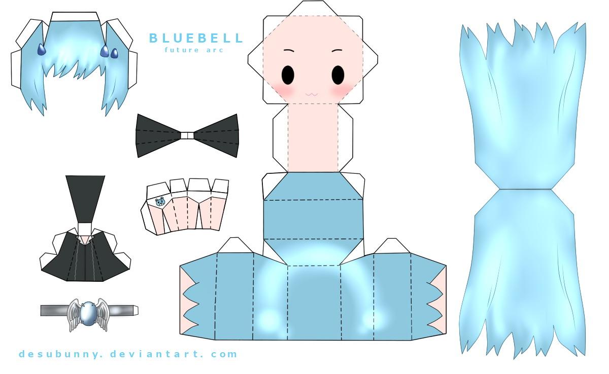 แจกโมเดลกระดาษเจ้าค่า~ Bluebell