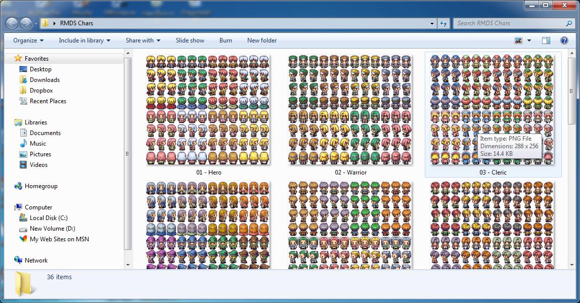 [Characters] ตัวละครต่างๆ จาก Rpg Maker DS Rrmds