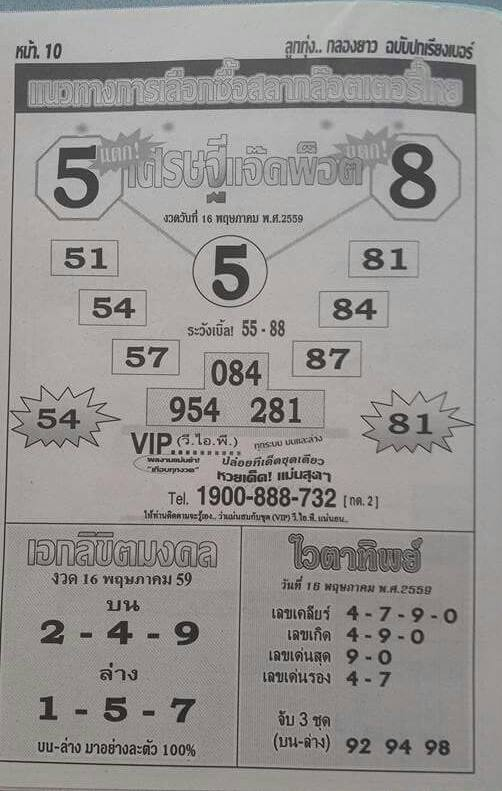 16/5/2016 Thai Lottery Tips - Page 15 13164220_1575776489418869_741562887161604862_n