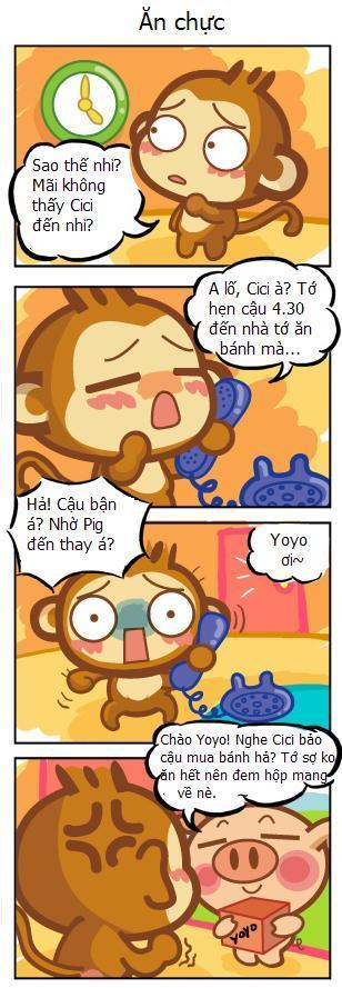 [Truyện Tranh Hài] Khỉ YoYo & CiCi 584029743330