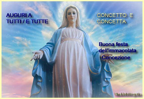 8 Dicembre festa dell'immacolata Concezione Immacolata