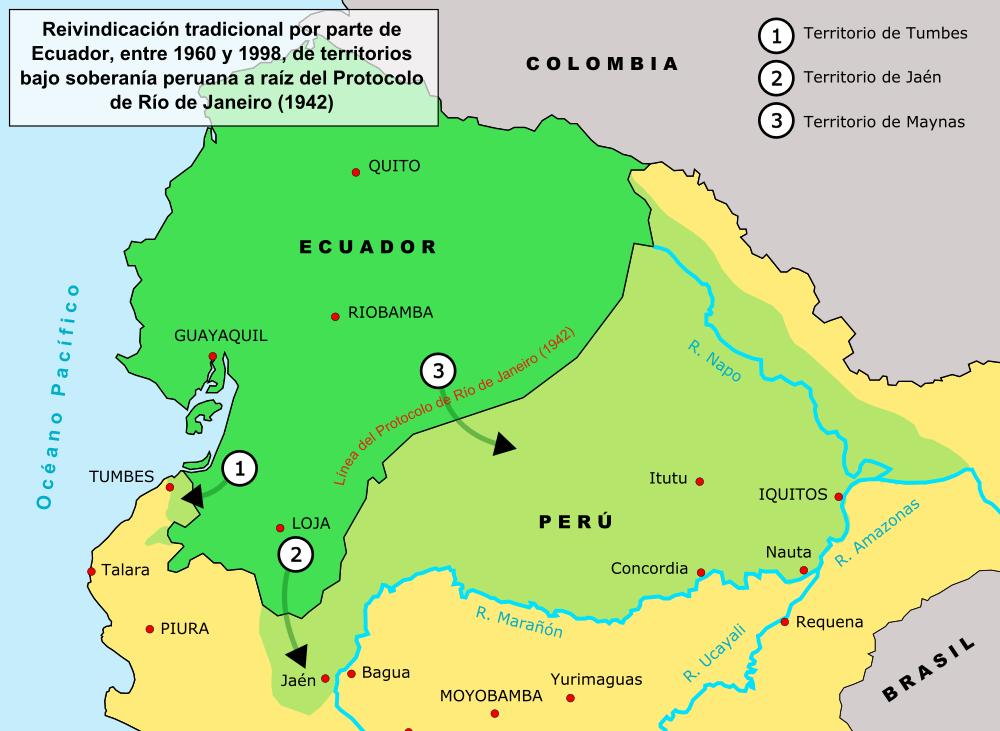 Armée Equatorienne/Fuerzas Armadas del Ecuador Ecuador-peru-land-claims-01