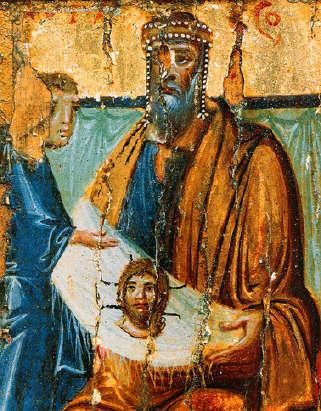 Enkolpio relicario bizantino Mandylion / Crismon Abgarwithimageofedessa10thcentury
