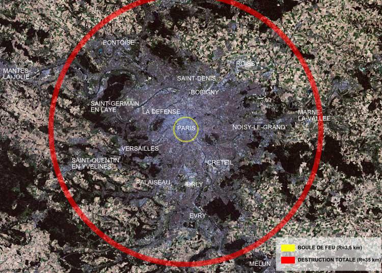 Les dégâts d'une bombe nucléaire. Tsar_Bomba_Paris