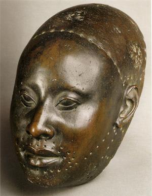 Afrička skulptura Yoruba-bronze-head