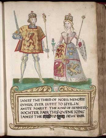 The Wardrobe of Margaret of Denmark, Queen of Scotland James_III_and_Margaret_of_Denmark