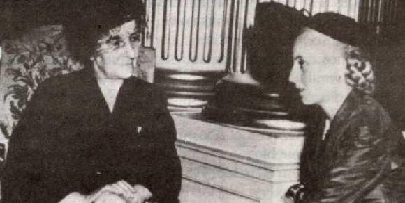 """Una Mujer Argentina Irá A París..."" (Eva Perón o Cristina Kirchner) Evita_y_Golda_Meir"