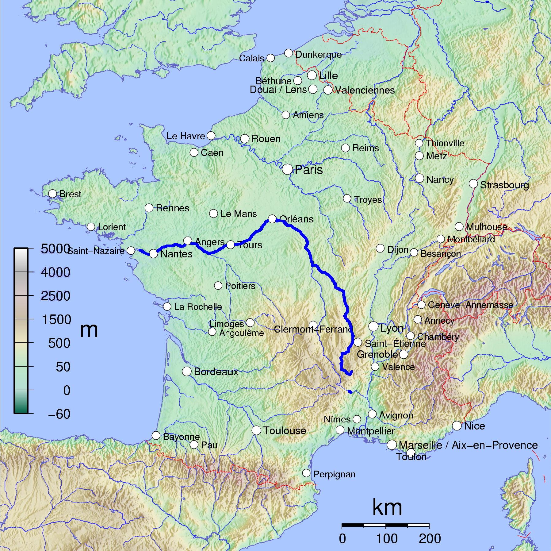 les bords de Loire France_map_with_Loire_highlighted