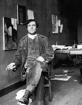 """Cuando conozca tu alma, pintaré tus ojos"" - Amedeo Modigliani. Amedeo_Modigliani_Photo"