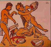 Colonización española de América Sacrificio_azteca