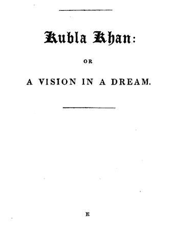 Drugs Kubla_Khan_titlepage
