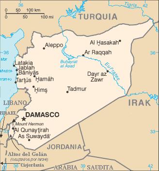 Al-Nasir Salah ad-Din Yusuf inb Ayyub, 'Saladino' Mapa_de_Siria
