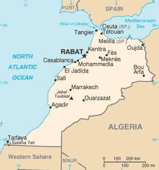 Maroko Map_of_Morocco_from_CIA_World_Factbook