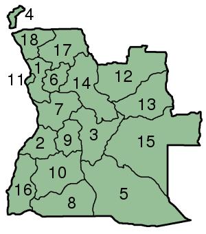 Angola Angola_Provinces_numbered_300px