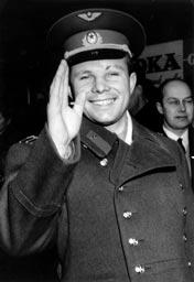 History of Soviet Space Program Gagarin_in_Sweden