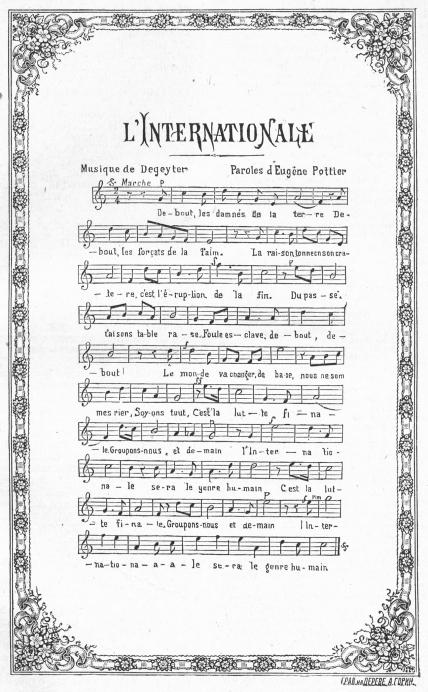 Piano virtual, cómo tocar el himno soviético y otros temas L%27Internationale