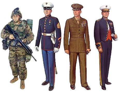معلومات حول القوات البحرية الأمريكية USMC_uniforms