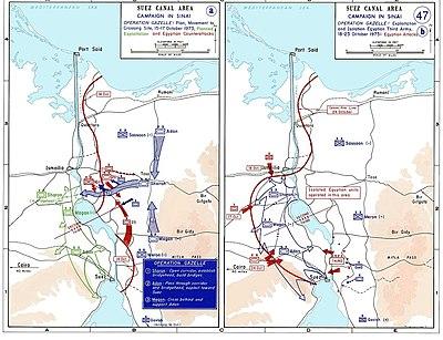 حرب الاستنزاف بين عامي 1967 و 1973 باللغة الانجليزيه 400px-1973_sinai_war_maps2