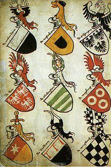 Srbija - Srbija u srednjem veku - Heraldika  220px-Hyghalmen_Roll_Late_1400s