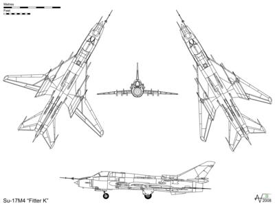 الطائرة  سو-17/-20/-22 (Cy-17) او سخوي المستخدمة من قبل القوات الجوية المصرية 400px-Sukhoi_Su-17M4