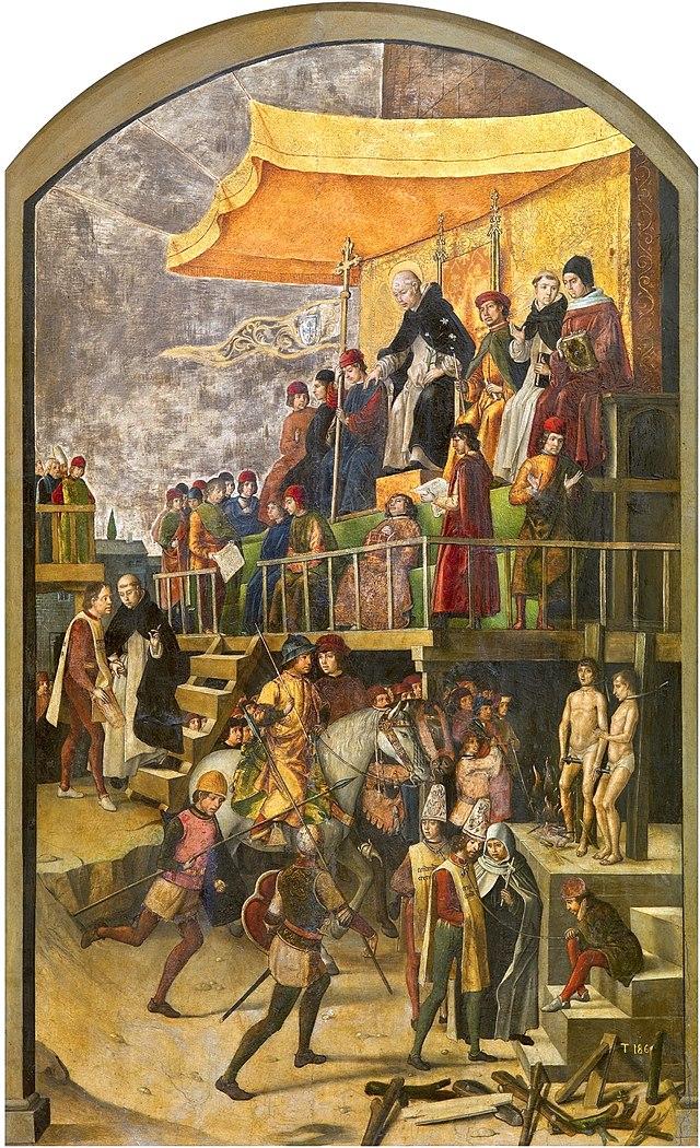 Inquisición española 640px-Pedro_Berruguete_Saint_Dominic_Presiding_over_an_Auto-da-fe_1495