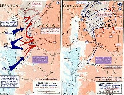 حرب الاستنزاف بين عامي 1967 و 1973 باللغة الانجليزيه 400px-1973_Yom_Kippur_War_-_Golan_heights_theater