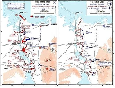 حرب الاستنزاف بين عامي 1967 و 1973 باللغة الانجليزيه 400px-1973_sinai_war_maps