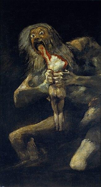 Франсиско Хосе де Гойя-и-Лусьентес - Страница 2 326px-Francisco_de_Goya%2C_Saturno_devorando_a_su_hijo_%281819-1823%29