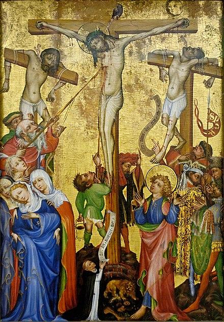 Dimanche 18 avril 2021/Troisième dimanche de Pâques - Page 32 440px-Crucifixion_Strasbourg_Unterlinden_Inv88RP536