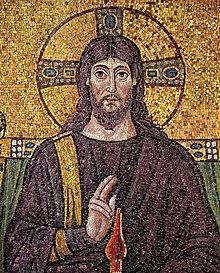 Débats - Le Christ a-t-il historiquement existé? 220px-Christus_Ravenna_Mosaic