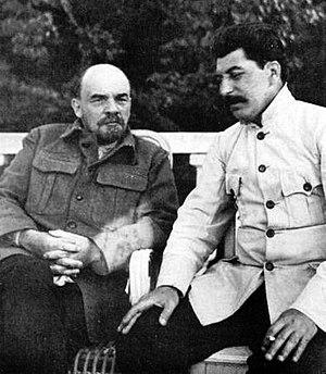 Falsificación del Testamento de Lenin 300px-Lenin_and_stalin_crop