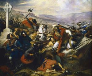 معركة بلاط الشهداء 300px-Steuben_-_Bataille_de_Poitiers