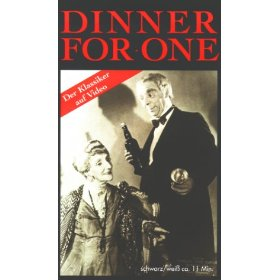 Seasonal movie-watching traditions Dinner_for_One_VHS_Video_Cover