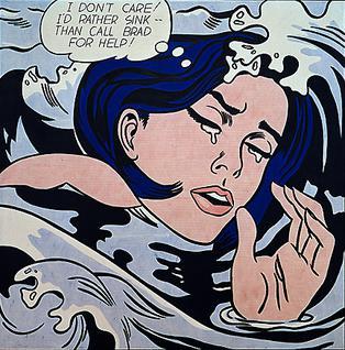 Pop Art Roy_Lichtenstein_Drowning_Girl