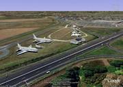 Un Concorde, 2 airbus et 1 Av de chasse a Paray Vielle Poste Delta_3d2