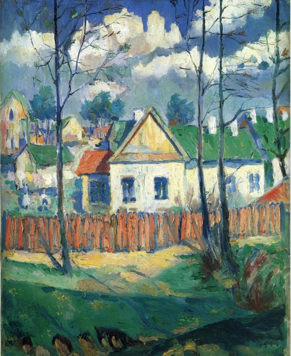 ЧЕРНЫЙ КВАДРАТ Spring-landscape-with-a-cottage