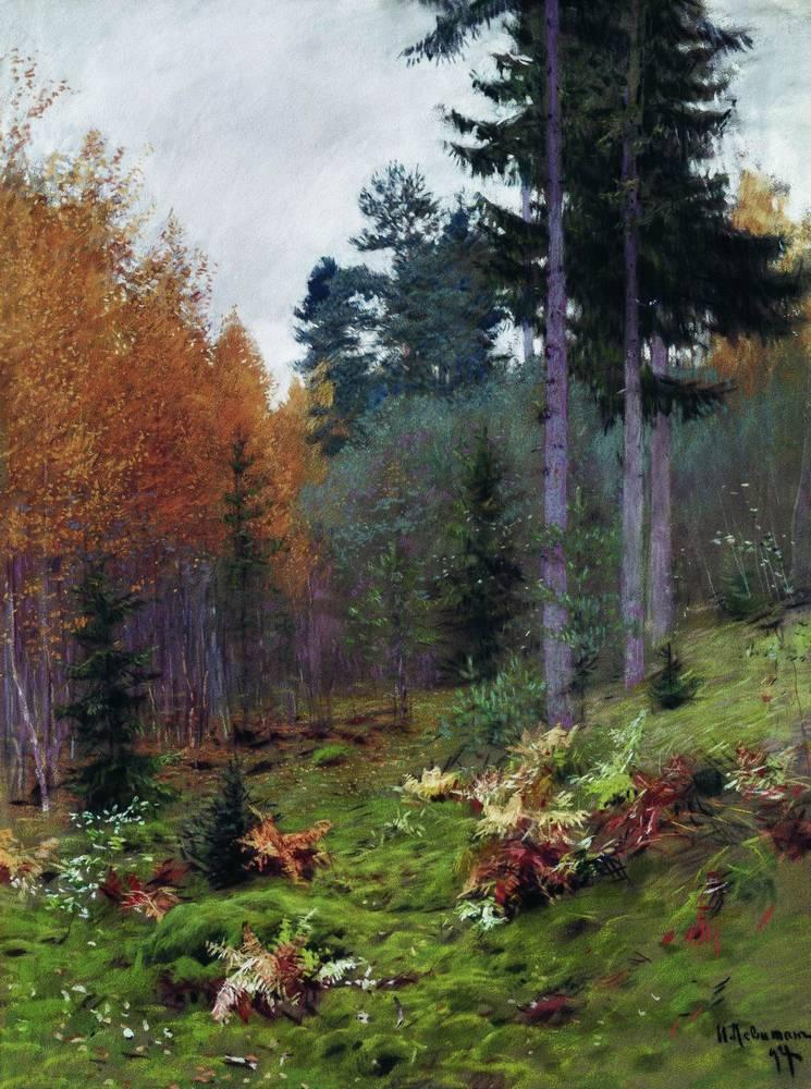 Isaac Levitan - Page 3 In-the-forest-at-autumn-1894