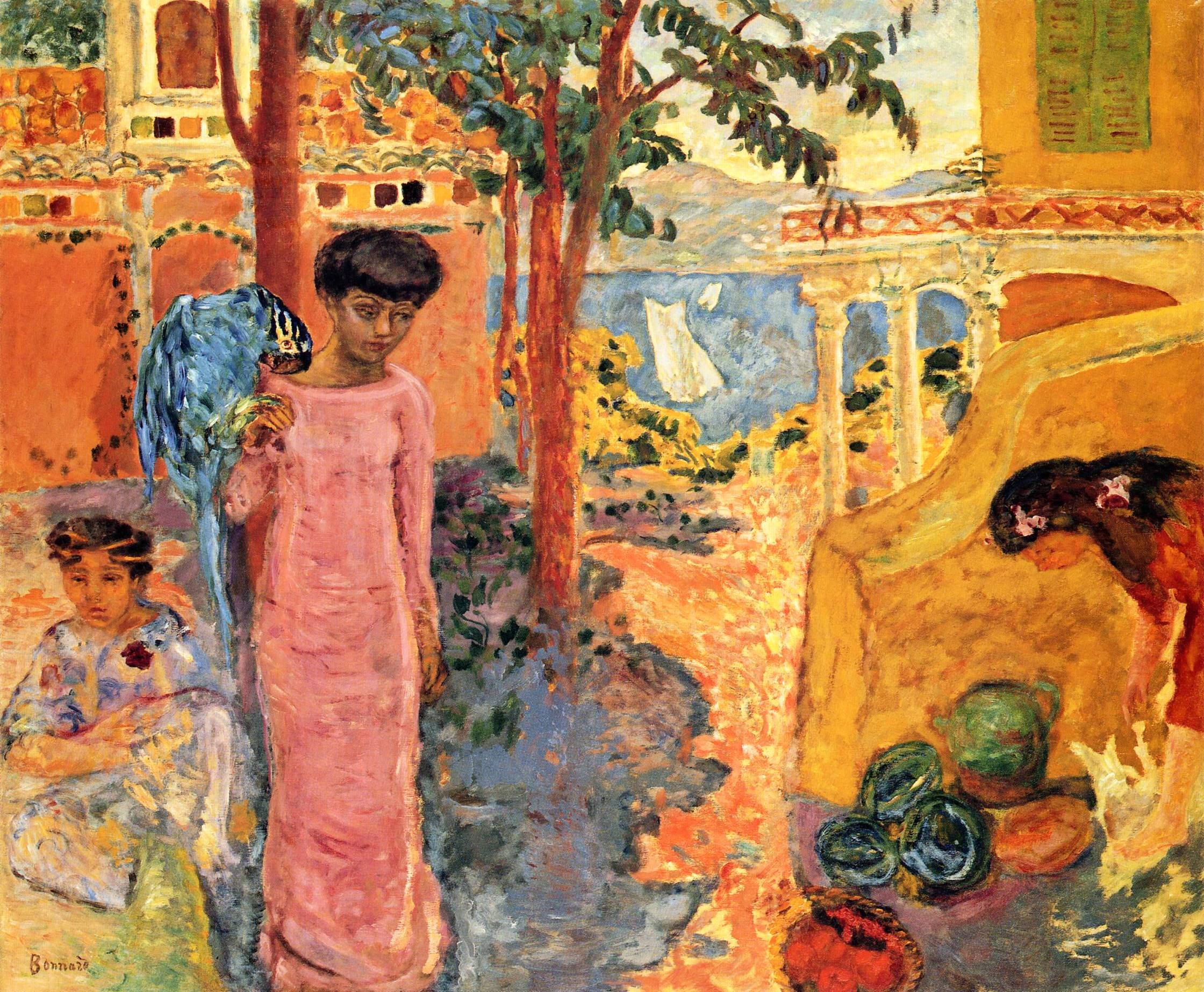 Pierre Bonnard - Page 2 Girl-with-parrot-1910