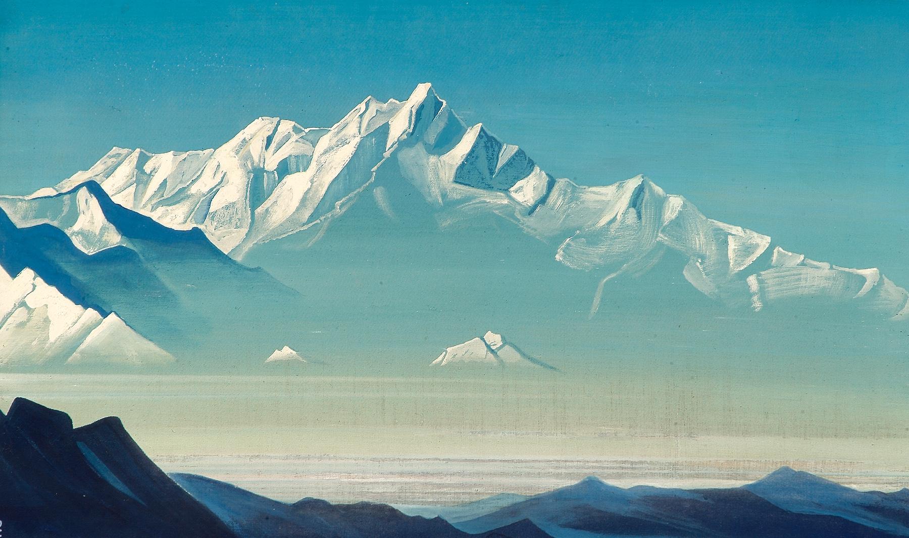 Nicolas Roerich [Peintre] Mount-of-five-treasures-two-worlds-1933