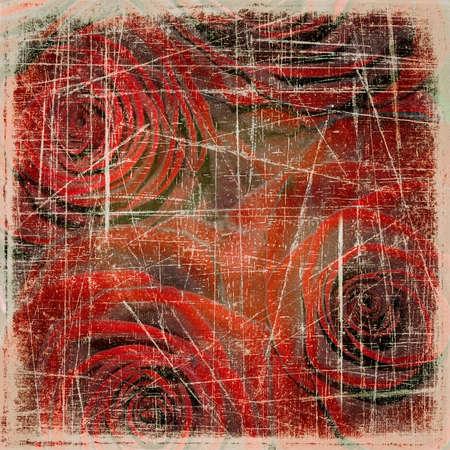 drôles de zébrures ; autour des rayures ! - Page 2 13554979-resume-grunge-background-texture-avec-des-roses-rouges-pour-la-conception-de-la-couverture-ou-des-pa
