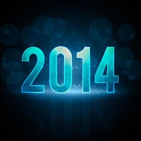 كل سنة وانتو طيبين 23080821-bonne-annee-2014-message-neon-eps10-vector-illustration