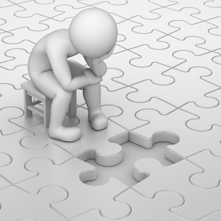Un pequeño ejercicio de creatividad 23463315-frustration-3d-human-and-one-missing-puzzle-piece